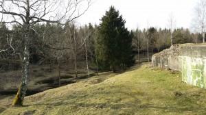champ de bataille de Verdun colline dévastée par les bombes dont les trous sont présents